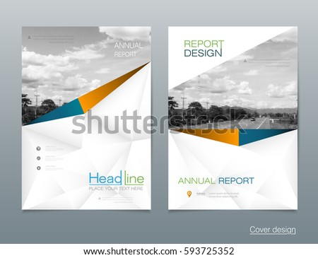 Vector Design Brochure Flyer, Business Annual Report. Flier, Leaflet,  Pamphlet Brochure.  Pamphlet Layout Template