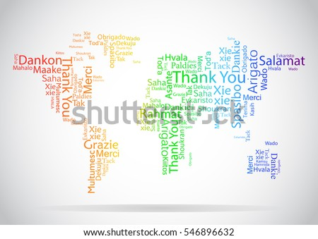 Hello word cloud world map typography vectores en stock 453381745 welcome world map in typography word cloud business conceptual background vector design concept for international thank you day or thanksgiving day gumiabroncs Choice Image
