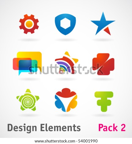 Vector design elements and icons - stock vector