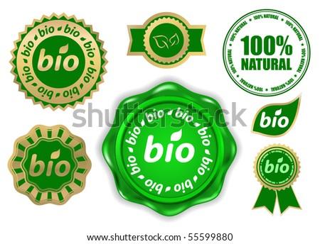 vector design elements - bio - stock vector
