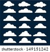 Vector Design Elements. Clouds. - stock vector