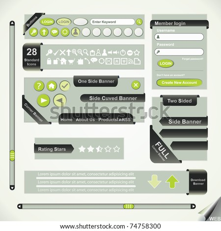 Vector Design, elements for web - stock vector