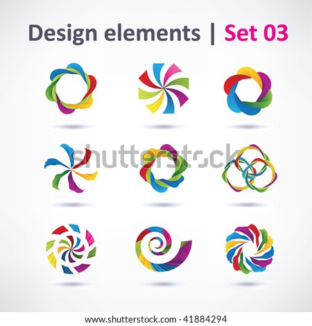 Vector Design elements ( icons )  for print and web - stock vector