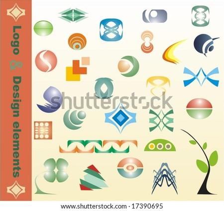 vector design elements,28 pieces - stock vector