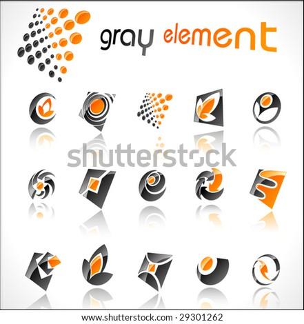 Vector design elements. Set 6. - stock vector