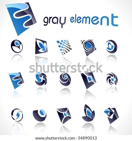 Vector design elements. Set 12. - stock vector