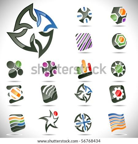 Vector design elements. Set 24. - stock vector