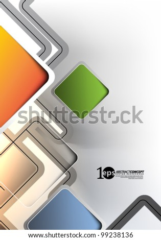 Vector Design - eps10 Abstract Concept Background - stock vector