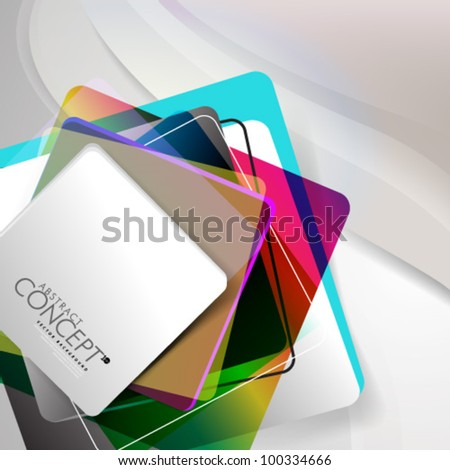 Vector Design - eps10 Abstract Concept Colorful Background - stock vector