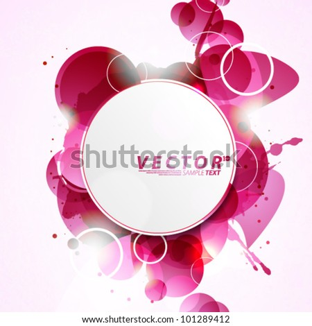 Vector Design - eps10 Abstract Concept with Circle Shape Elements Background - stock vector
