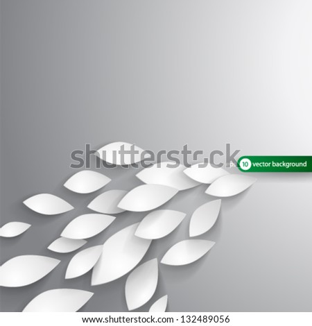 Vector Design - eps10 Overlapping Leaves Concept Illustration - stock vector
