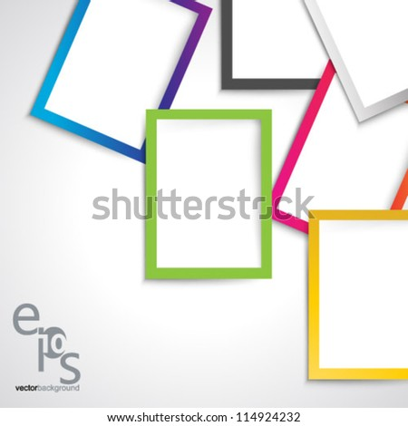Vector Design - eps10 Overlapping Rectangles Concept Illustration - stock vector