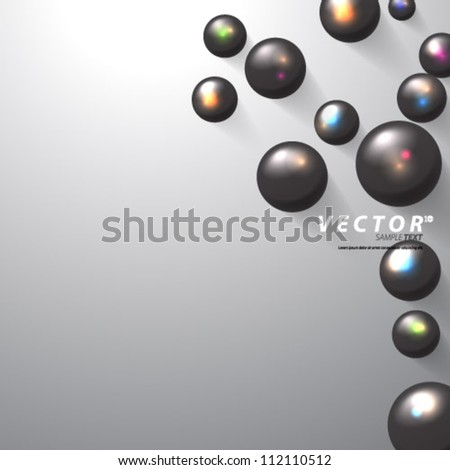 Vector Design - eps10 Overlapping Sphere/Circles Concept Background