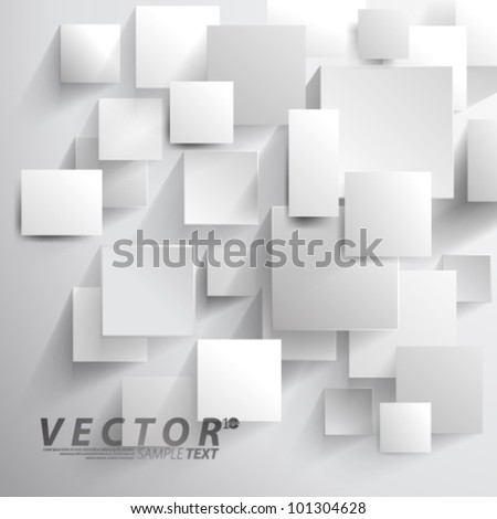 Vector Design - eps10 Overlapping Squares Concept Illustration