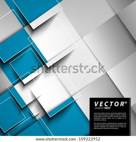 Vector Design - eps10 Overlapping Squares Concept Illustration - stock vector