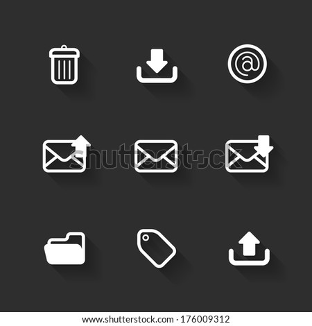 Vector design flat icons for web and mobile - stock vector