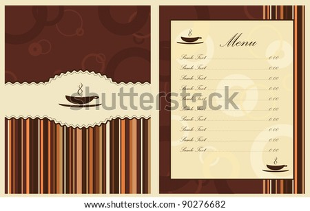 Vector design for coffee shop menu - stock vector