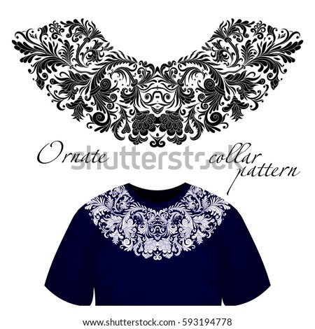 Vector Design For Collar Shirts Blouses T Shirt One Colors