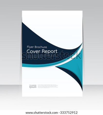 Vector design for Cover Report Annual Flyer Poster in A4 size - stock vector