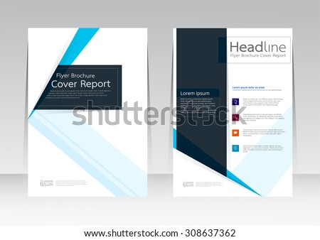 Vector design for Cover Report Brochure Flyer Poster in A4 size - stock vector