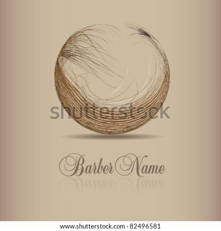 vector design for hair logo - stock vector