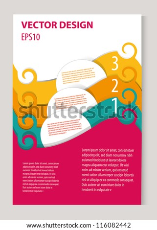 Vector design for your brochure - stock vector