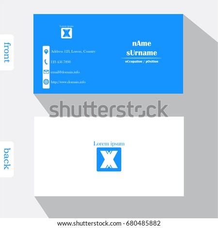 Vector design modern creative business card stock vector 680485876 vector design modern creative business card template show front and back of card concept fbccfo Choice Image