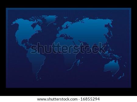 Vector design of an abstract blue map - stock vector