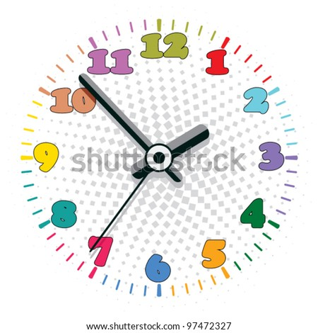 vector design of colorful clock - stock vector