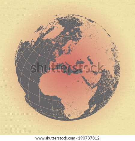vector design of globe - stock vector