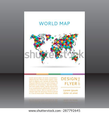 Vector design flyer colorful world map stock vector 287792645 vector design of the flyer with colorful world map unusual vector world map posters gumiabroncs Images
