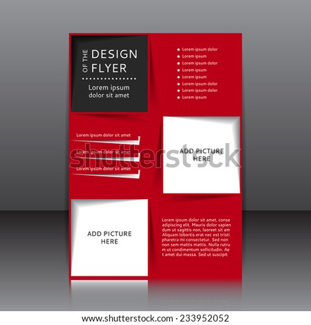 Vector Design Red Flyer Whit Place Stock Vector