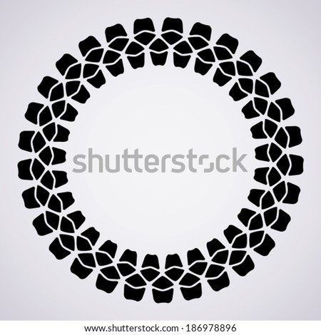 vector design of tire print and copy-space - stock vector