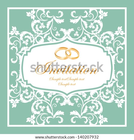 vector design of wedding invitation - stock vector