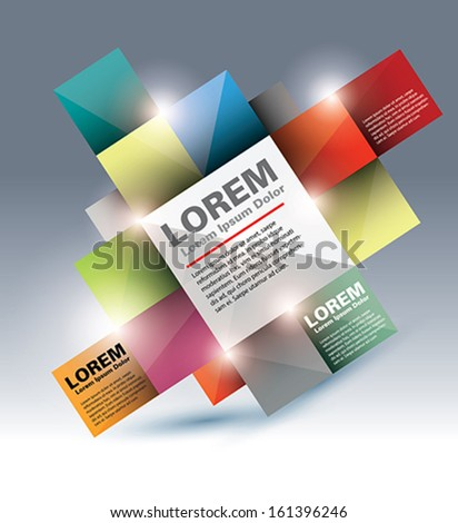 Vector Design Overlapping Squares Concept Illustration - eps 10 - stock vector