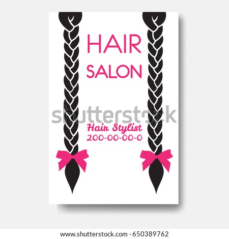 Hairdresser business cards vector awesome graphic library template design business card long straight stock vector 626228726 rh shutterstock com salon business cards vector reheart Image collections