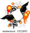 Vector design with black wings - stock vector
