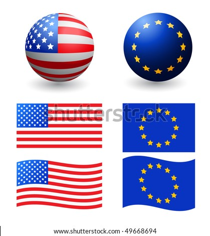vector designed flags - stock vector