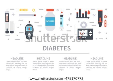 Diabetes Vector Infographic Hypoglycemia Hyperglycemia