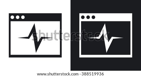 Vector diagnostics icon. Two-tone version on black and white background - stock vector