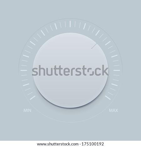 Vector Dial Knob  - stock vector