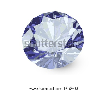 vector diamond - stock vector