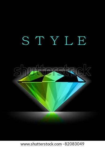Vector Diamond Design - stock vector