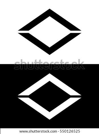 vector diamond shaped frame set stock vector 550126525 shutterstock rh shutterstock com Diamond Shape Logo with Red Diamond Logo Design