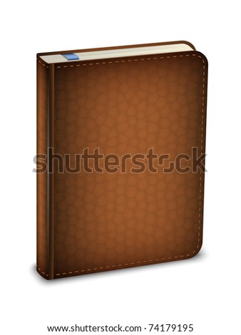 Vector diary in the leather cover - stock vector