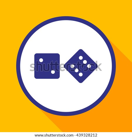Vector dice icon.Game of dice. - stock vector