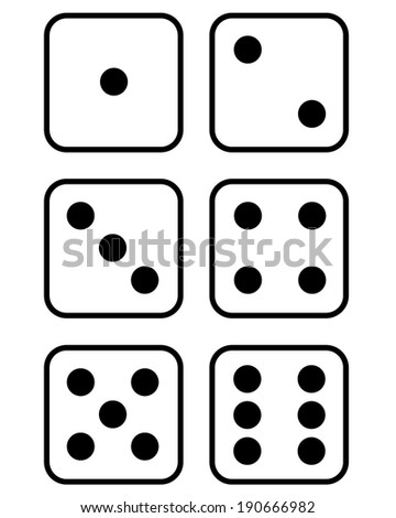 Vector dice set - stock vector