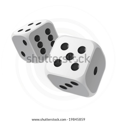 Vector dices - stock vector