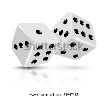 Vector dices icon - stock vector