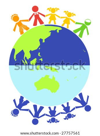 Vector different children around the world